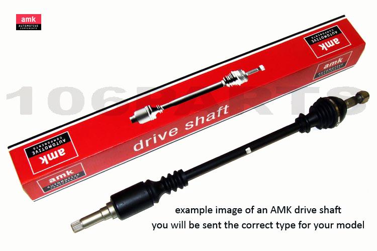 Peugeot 106 R/H Drive Shaft for 1.0 1.1 3-Stud Models AMK DS1165