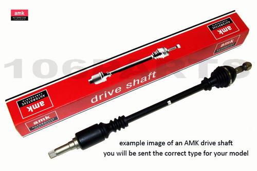Peugeot 106 L/H Drive Shaft 1.4 1.6 Automatic NON ABS AMK DS1305 Thumbnail 1