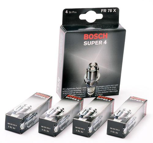 Peugeot 106 Bosch Super-4 Spark Plugs (4) XSI RALLYE GTI Bosch FR78X Thumbnail 1