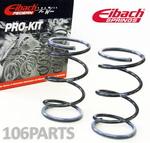 106 Eibach Pro-Kit -30/40mm Springs Peugeot 106 1.0 1.1 1.4 & D Eibach E7003-120 Thumbnail 1