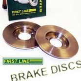 Peugeot 106 Front Brake Discs for 266mm Conversion (22mm) Firstline FBD1234