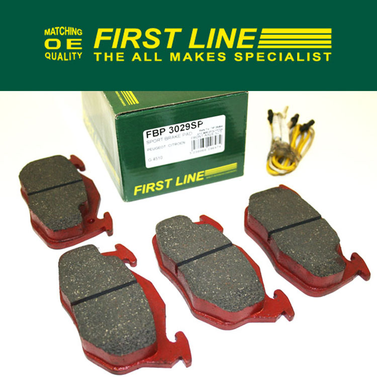 Pug 106 Sports Front Brake Pads 106 S1 Rallye & XSi + WEAR SENSORS Firstline