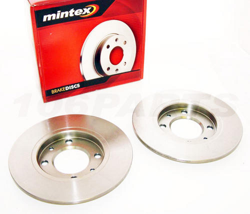 Peugeot 106 Mintex 247mm Rear Brake Discs GTI RALLYE VTS Mintex Thumbnail 1