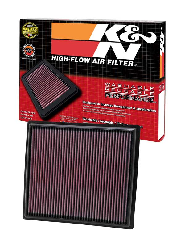 K/&N 33-2442 High Performance Replacement Air Filter for 2010-2011 Buick Lacrosse 2.4//3.6L