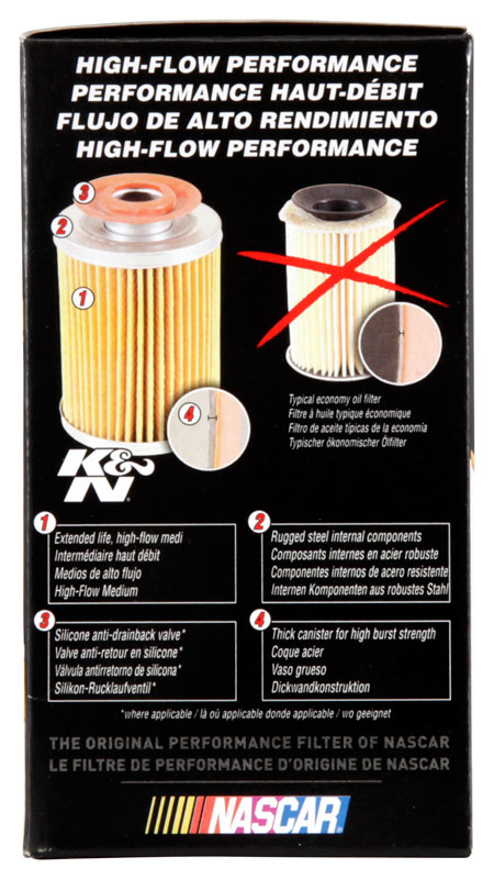HP-2009 K/&N Performance OE Replacement Oil Filter