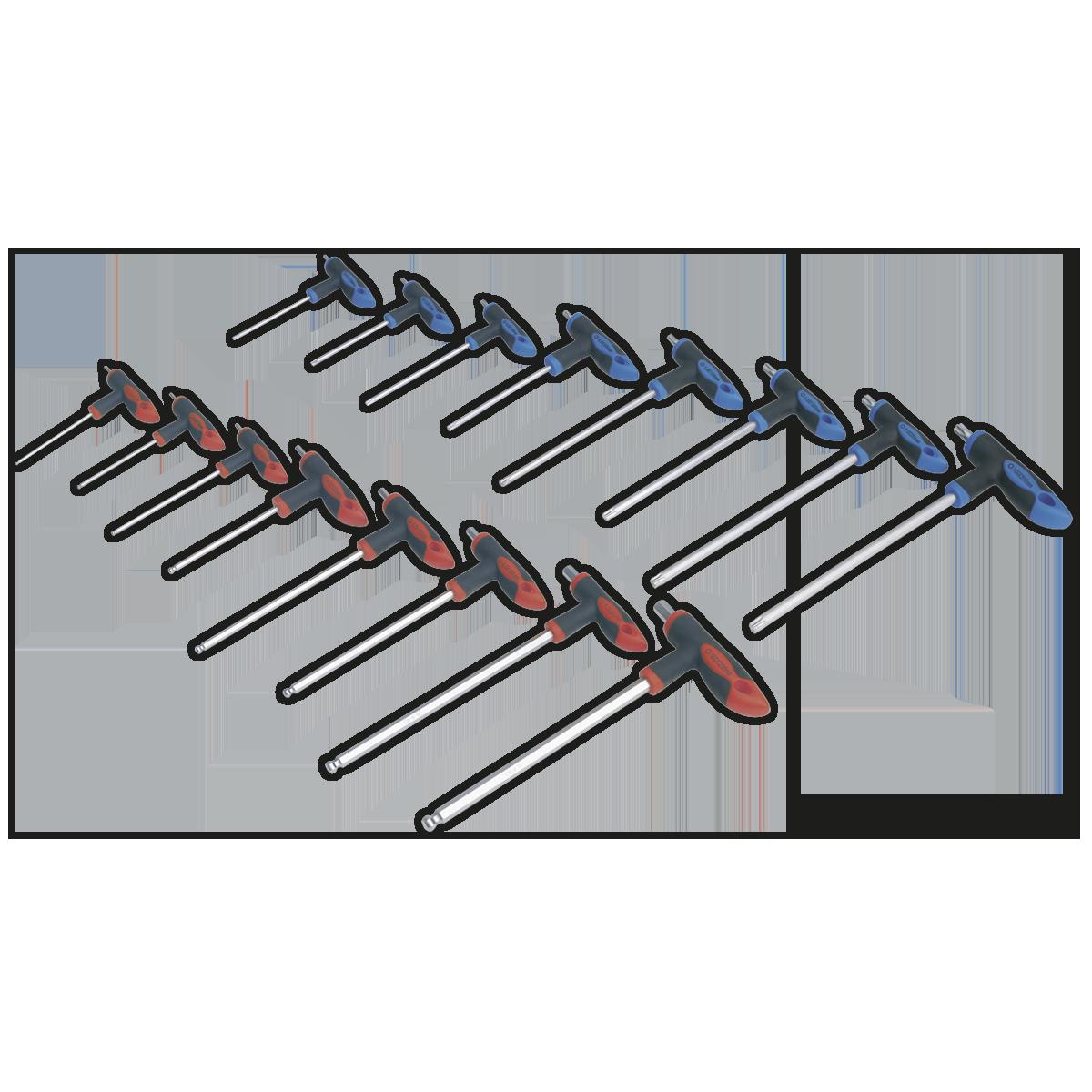S0466 Siegen Hex Key Set 10pc T-Handle Metric Key Sets