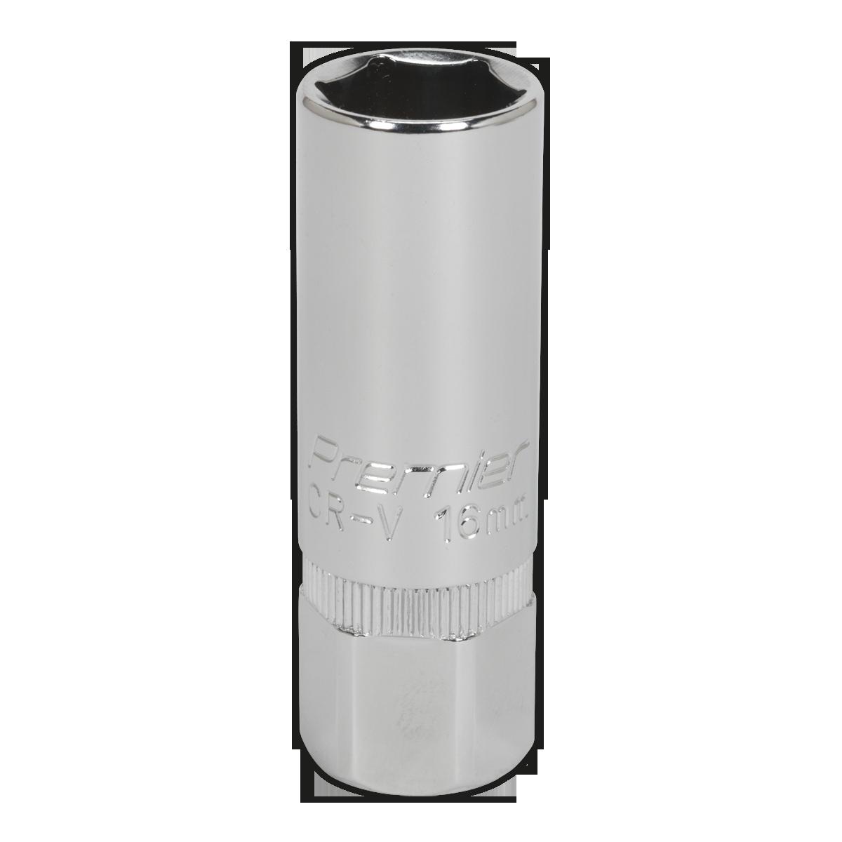 "Siegen WallDrive Socket 16mm Deep 1//2/"" Square Drive Individual Socket S0672"