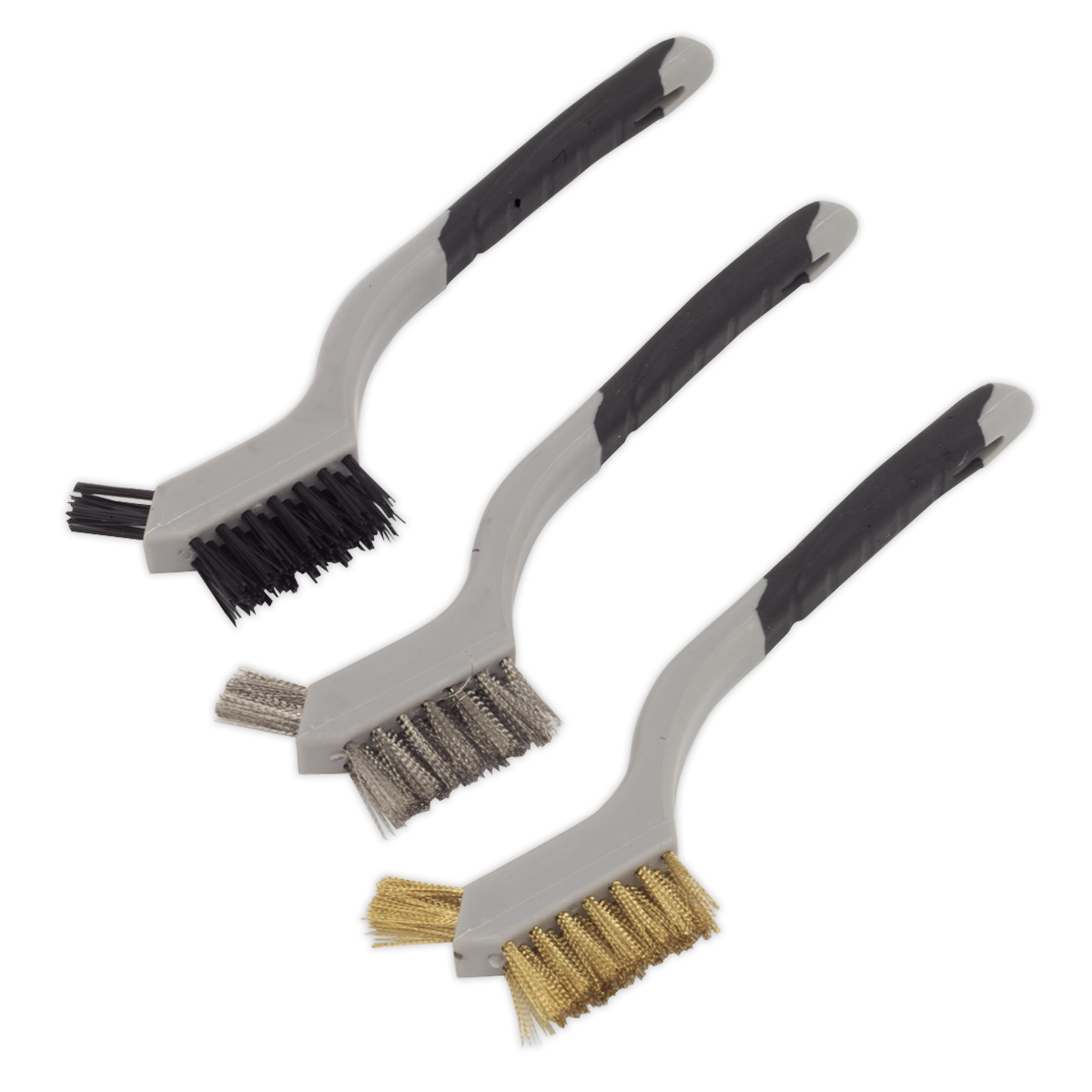 Sealey Wire Brush Set 3pc Miniature WB100-Garantie 5 an