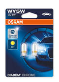 Osram WY5W (501A) 5W Diadem Chrome Design Indicator Bulbs 2827DC-02B Twin Pack