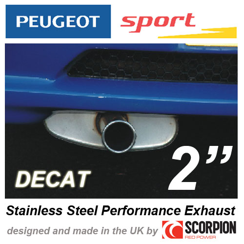 """PEUGEOT SPORT GROUP N EXHAUST PEUGEOT 106 GTI RALLYE XSI  2"""" ROLLED IN TAILPIPE Thumbnail 1"""