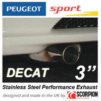 "PEUGEOT SPORT GROUP N EXHAUST PEUGEOT 106 GTI RALLYE XSI  3"" ROLLED OUT TAILPIPE"