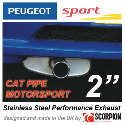 "PEUGEOT SPORT MOTORSPORT CAT 2"" EXHAUST PEUGEOT 106 GTI RALLYE XSI - with CAT!"