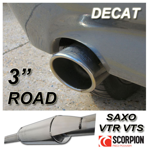 "SAXSPORT STAINLESS STEEL DECAT EXHAUST CITROEN SAXO 1.6 VTR VTS  3"" ROAD BACKBOX"