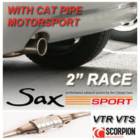 "SAXSPORT MOTORSPORT CAT EXHAUST CITROEN SAXO 1.6 VTR VTS - 2"" RACE BACKBOX!"