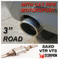 "SAXSPORT MOTORSPORT CAT EXHAUST CITROEN SAXO 1.6 VTR VTS - 3"" ROAD BACKBOX!"
