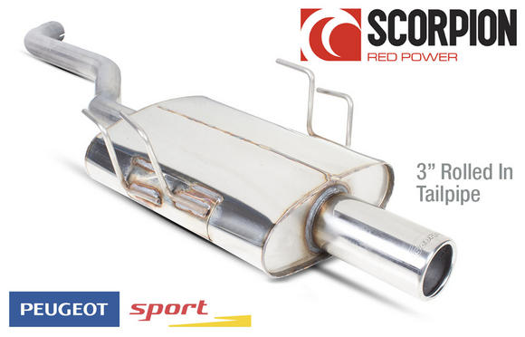 "PEUGEOT SPORT GROUP N EXHAUST 3"" TAILPIPE BACKBOX for PEUGEOT 106 GTI RALLYE XSI Thumbnail 1"