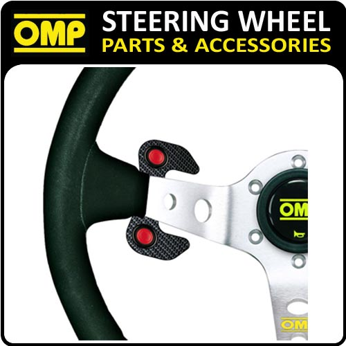 OD/2029 OMP CARBON FIBRE 2 BUTTON STEERING WHEEL PLATE RACING ACCESSORY