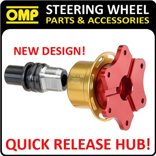 ODS/019 OMP QUICK RELEASE STEERING WHEEL HUB - 6 HOLE SNAP OFF - NEW OMP DESIGN!