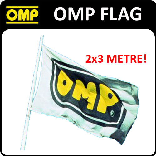 X/867/2 OMP RACING RALLY RARE DEALER FAN FLAG HUGE 2x3metre MOTORSPORT SHOWS