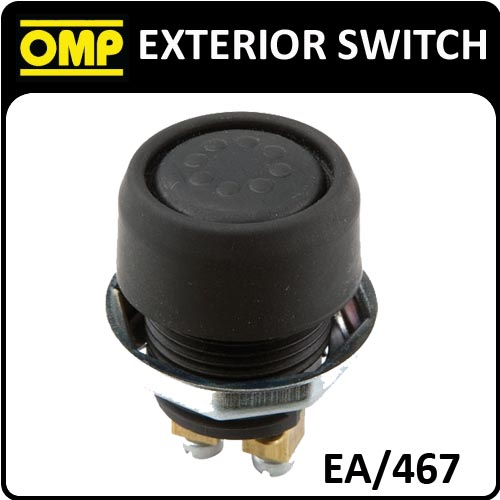 EA/467 OMP RACING EXTERIOR PUSH BUTTON SWITCH 2 POLE - WATER RESISTANT!