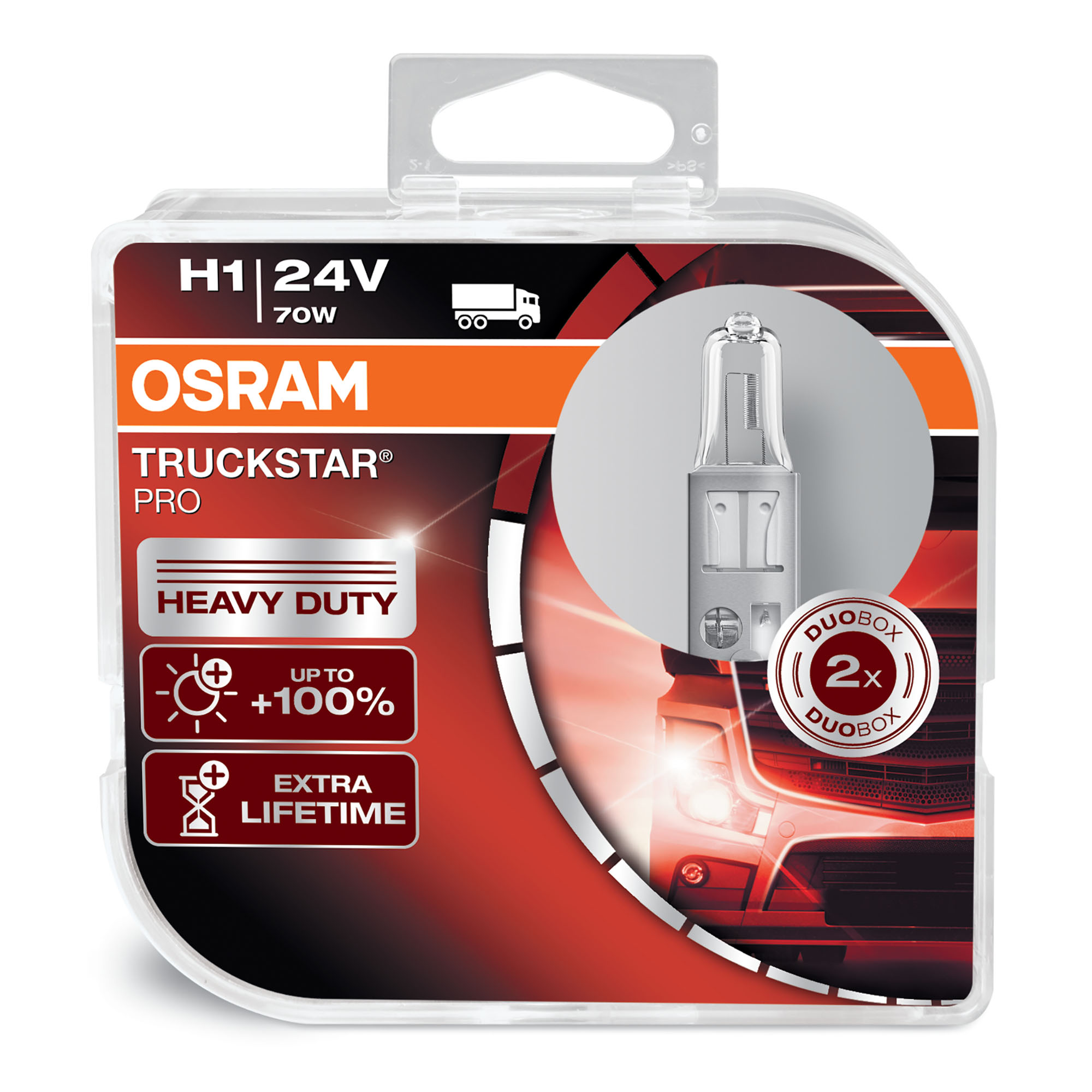 Osram Truckstar Pro H1 24v 70w Headlight Bulbs Heavy Duty