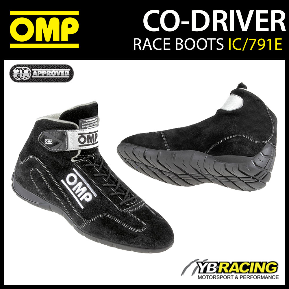 IC/791E OMP CO-DRIVER RALLY BOOTS RAINPROOF SUEDE LEATHER MECHANIC PITCREW