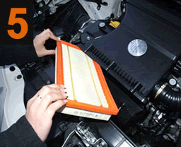 Remove the standard air filter