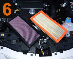 Check the new K&N air filter is the right size