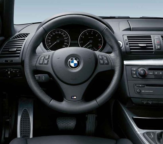 BMW Genuine M Steering Wheel Cover Trim Black 1/3 Series