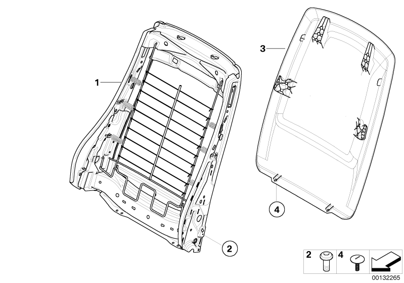 bmw genuine front seat panel storage net bag beige e90  e91