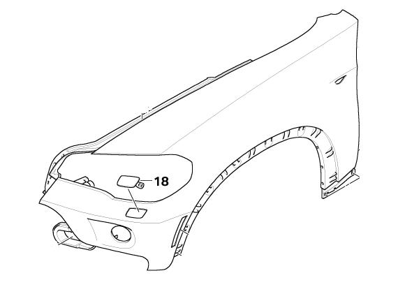 bmw genuine front left headlight washer jet cover e70 x5
