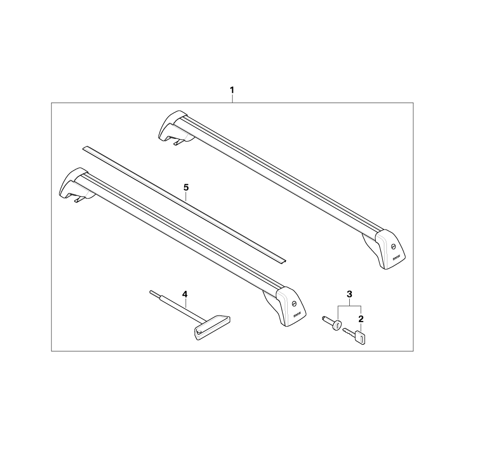 bmw genuine roof rail bars rack support system e91 3