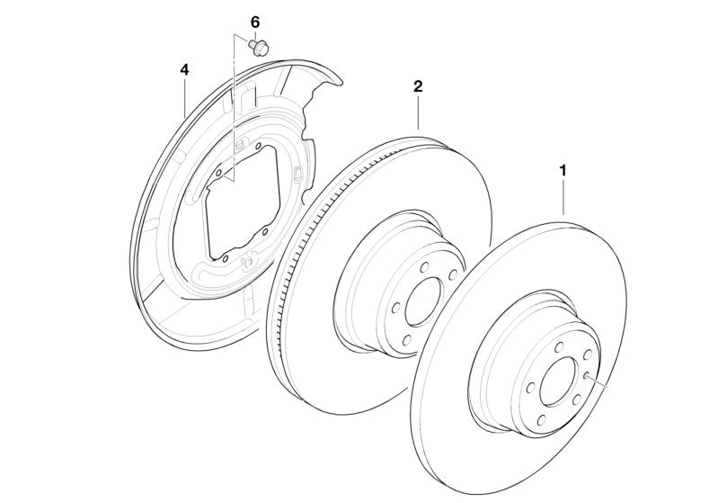 bmw genuine rear brake disc back protection plate right e36 e46 e85 34211158992