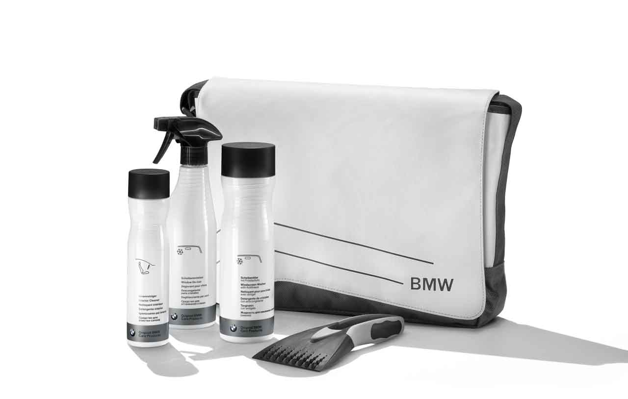 Bmw Genuine Winter Edition Car Care Cleaner Washer Set Kit Bag