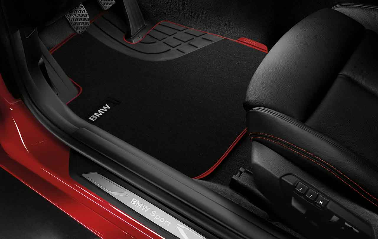 bmw genuine tailored textile front floor mats sport f30. Black Bedroom Furniture Sets. Home Design Ideas