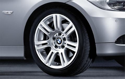 1x Bmw Genuine Alloy Wheel 17 Quot M Double Spoke 194 Rear E90