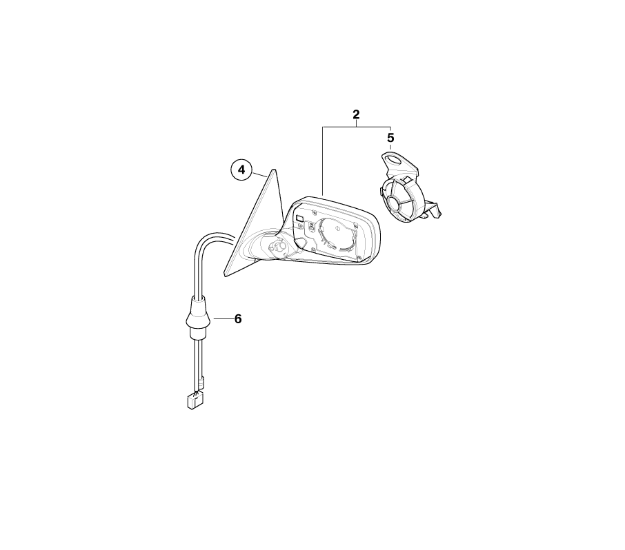 Bmw Genuine Right Exterior Wing Mirror Folding Heated E46 3 Series