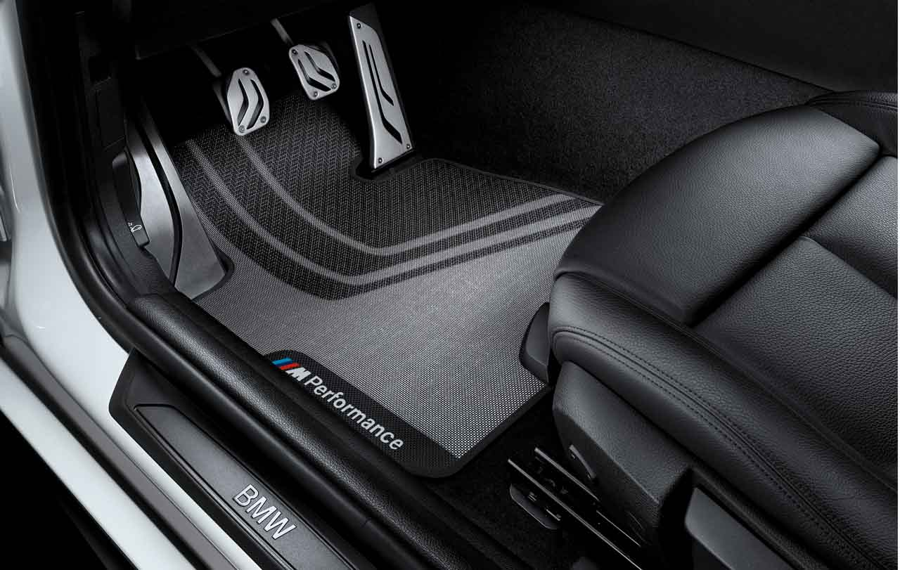 Bmw m performance genuine front floor mats set f20 f21 1 series 51472407300