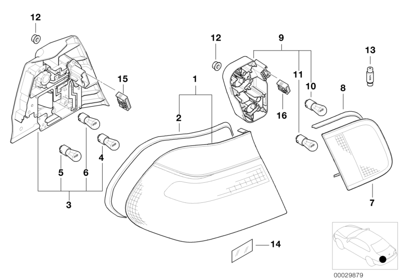 bmw genuine rear light tail lamp socket housing e46 3 series rh ebay co uk bmw e46 tail light diagram BMW E46 Engine Diagram
