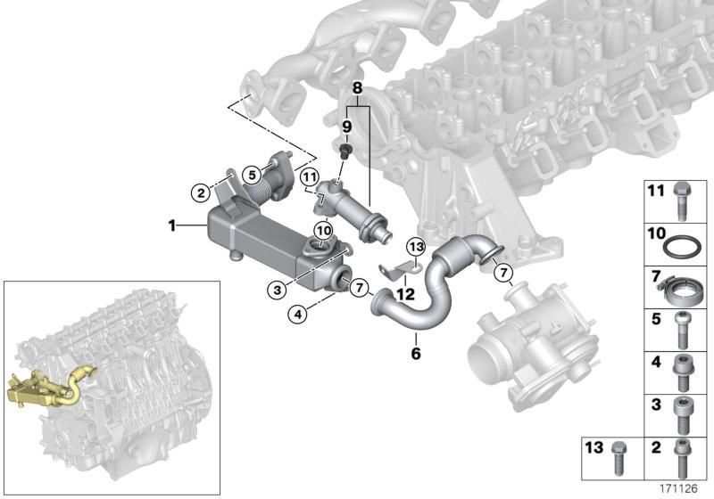 Bmw Genuine Engine Egr Cooling Thermostat 1 3 5 6 7 X3 X5