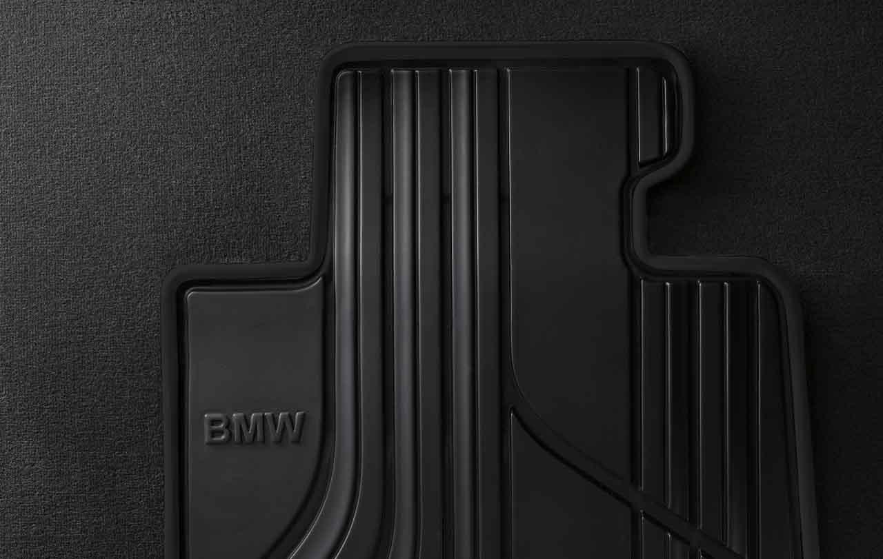 bmw genuine all weather rubber rear car floor mats set. Black Bedroom Furniture Sets. Home Design Ideas