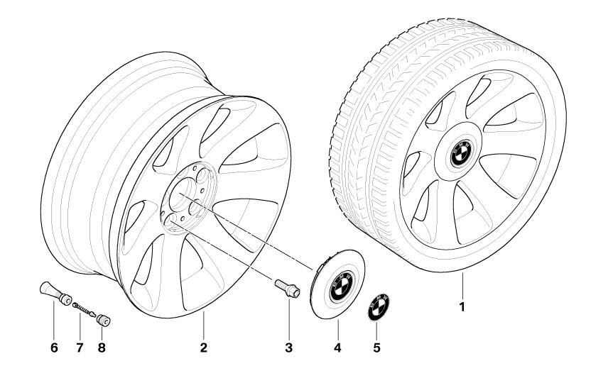 bmw genuine wheel cover hub cap e65  e66  e68 7 series