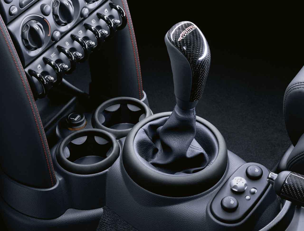 Mini Genuine Jcw Gear Shift Stick Knob Leather Carbon R50