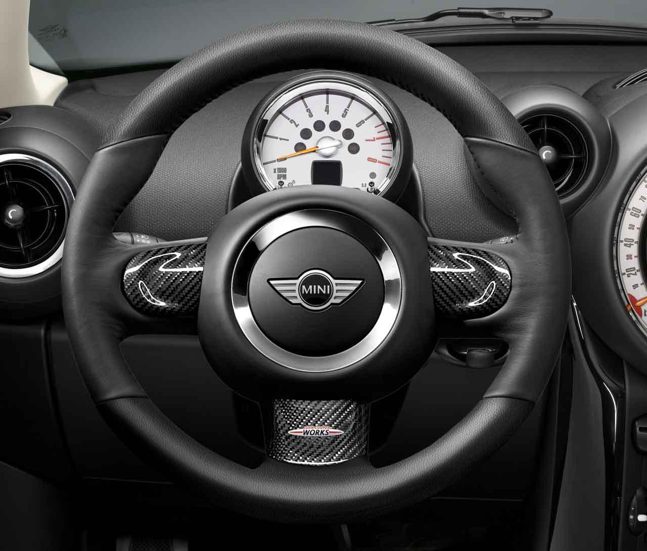 Mini Cooper Warranty >> MINI Genuine JCW Sport Steering Wheel Trim Cover Carbon Middle 32302147228 | eBay