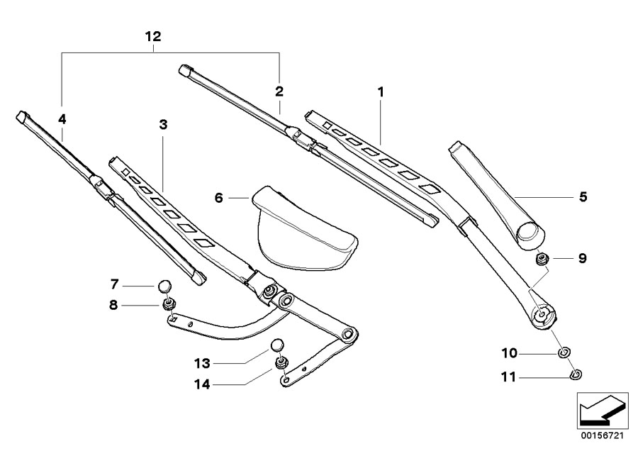 bmw genuine front wiper blades set e60  e61 5 series