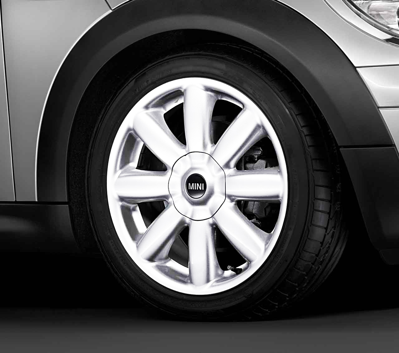 Mini Genuine 17 Inch Light Alloy Wheel Crown Spoke R104 White
