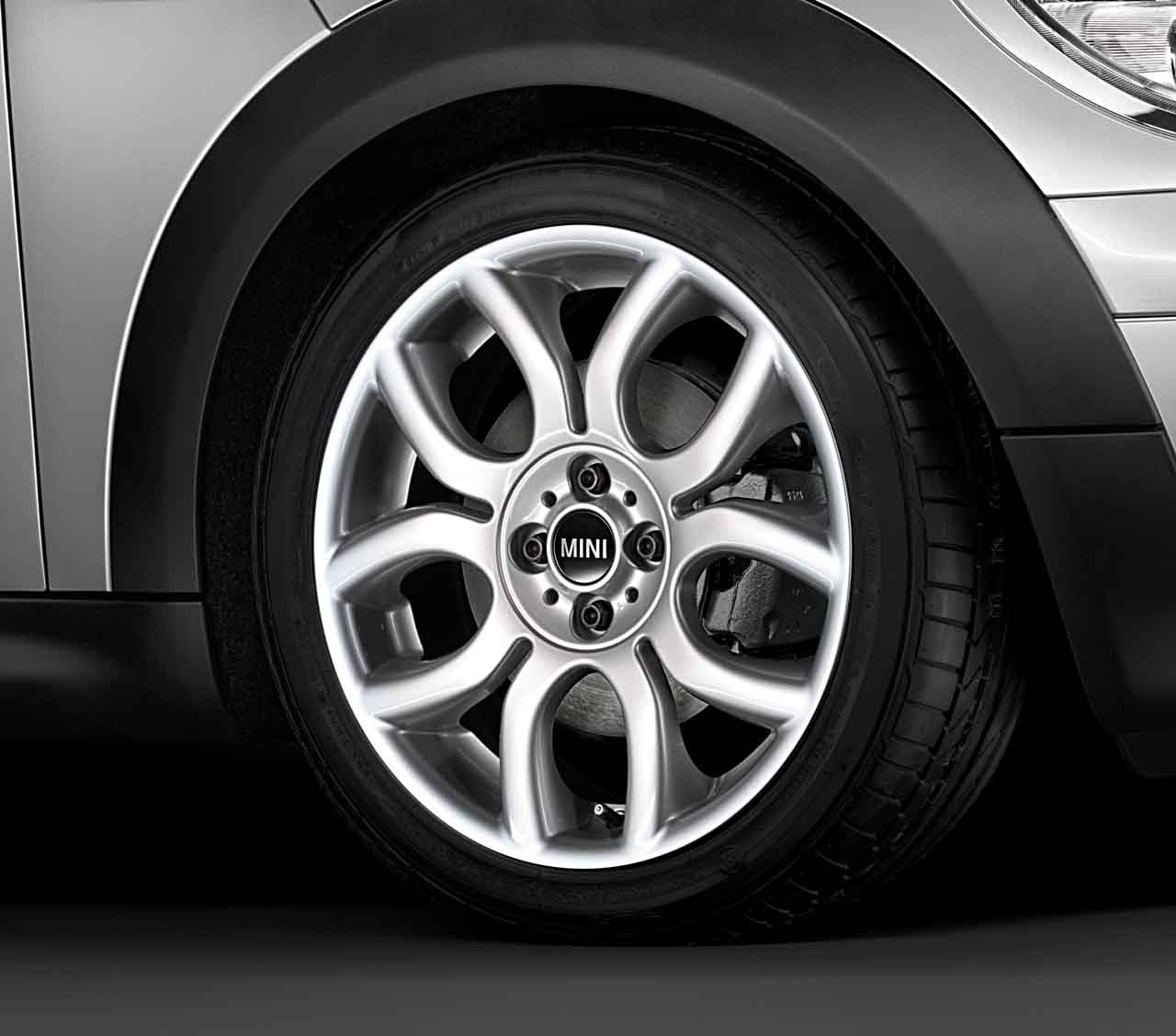 Mini Genuine 17 Inch Light Alloy Wheel Flame Spoke R97 Silver