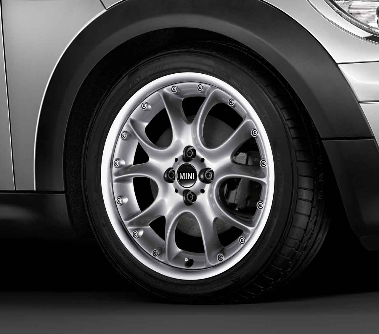 Mini Genuine 17 Inch Alloy Wheel Web Spoke Composite R98 Silver