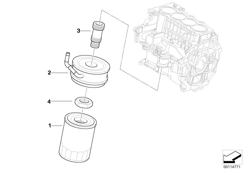 Mini Genuine Oil Filter Replacement For R50 R52 11420306483