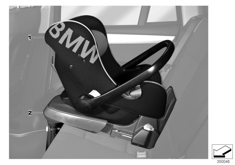 bmw genuine isofix base in black for baby car seat for. Black Bedroom Furniture Sets. Home Design Ideas